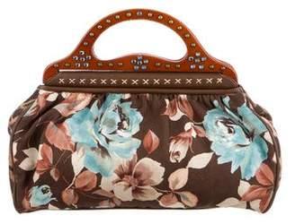 Isabella Fiore Embellished Floral Print Handle Bag