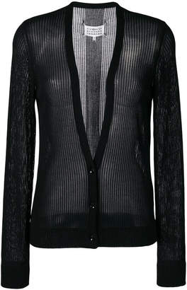 Maison Margiela sheer ribbed cardigan