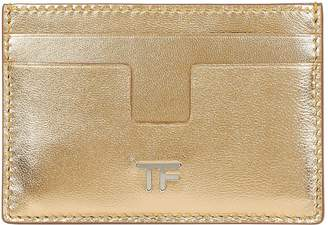 Tom Ford Metallic Leather Passport Holder