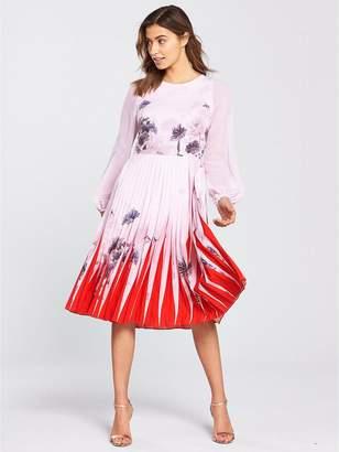 Ted Baker Prticha Lake Of Dreams Pleated Dress - Dusky Pink