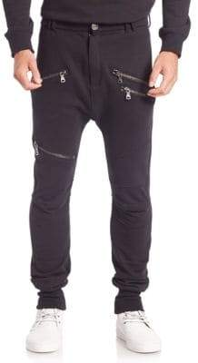 G Star Solid Zip-Accent Sweatpants