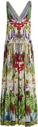 CAMILLA Exotic Hypnotic-print silk dress $785 thestylecure.com