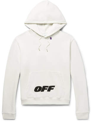 Off-White Wing Off Logo-print Fleece-back Cotton-jersey Hoodie