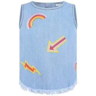 Stella McCartney KidsBlue Denim Embroidered Violetta Top