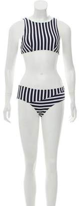 Araks Two-Piece Striped Swimsuit w/ Tags