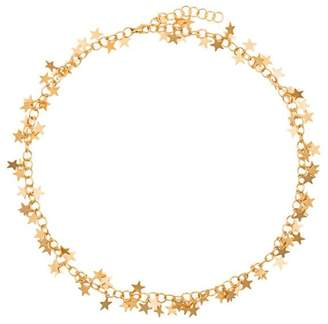 Malaika Raiss 24k gold plated star necklace