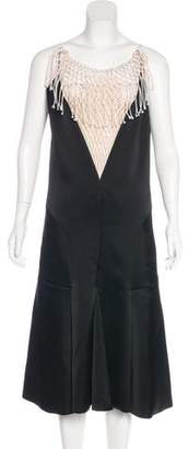 Celine Fishnet Satin Dress