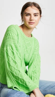 I Love Mr Mittens Cabled Kimono Sleeve Pullover