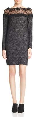 Vero Moda Cima Lace Inset Melange Dress