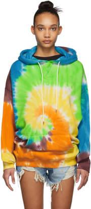 R 13 Multicolor Tie-Dye Rainbow Hoodie