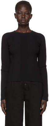Alexander Wang Black Visible Strap Crewneck Sweater