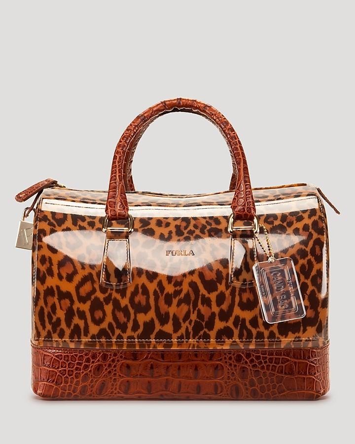 Furla Satchel - Cheetah Print Candy