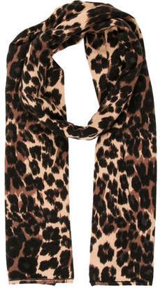 Diane von Furstenberg Leopard Print Scarf $95 thestylecure.com