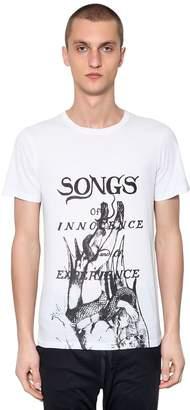 Ann Demeulemeester Printed Cotton Jersey T-Shirt