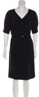Gerard Darel Short Sleeve Knee-Length Dress