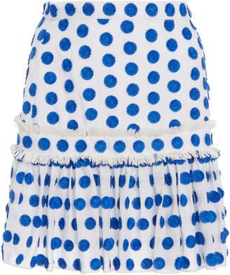 Alexis Harley Embroidered Dot Mini Skirt