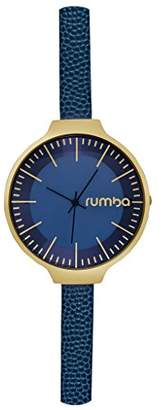 RumbaTime Women's 'Orchard Leather' Quartz Stainless Steel Casual Watch