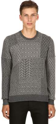 Etro Patchwork Wool Jacquard Sweater