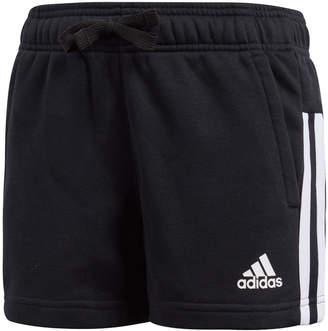 adidas Girls Essentials 3-Stripes Mid Shorts