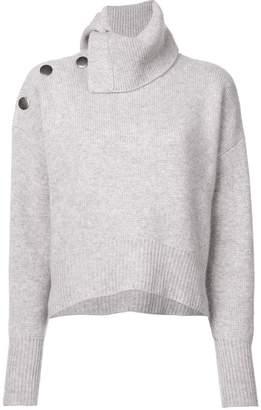 Le Kasha knit buttoned shoulder sweater