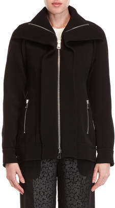 Derek Lam Black Zip-Up Raglan Coat