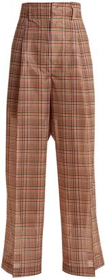 Toga Wide-leg checked mesh trousers