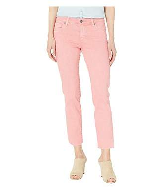 KUT from the Kloth Reese Ankle Straight Leg Jeans w/ Raw Hem in Coral