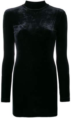 Marcelo Burlon County of Milan Wings embroidered velvet mini dress