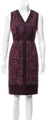 J. Mendel Sleeveless Tweed Dress
