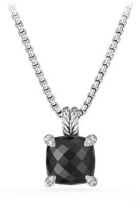 David Yurman Chatelaine Pendant Necklace with Black Onyx and Diamonds