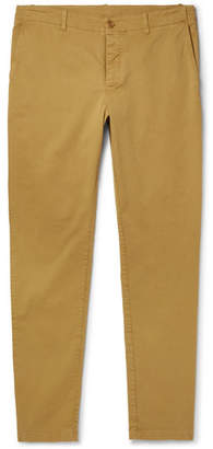 YMC Slim-Fit Tapered Cotton-Blend Twill Trousers - Men - Beige