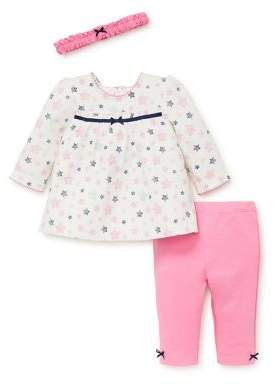 Little Me Baby Girl's Two-Piece Shiny Stars Cotton Tunic & Leggings Set