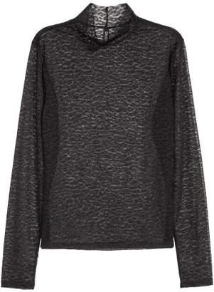 H&M Mesh Turtleneck Top - Black