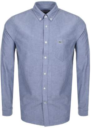 Lacoste Long Sleeved Oxford Shirt Navy