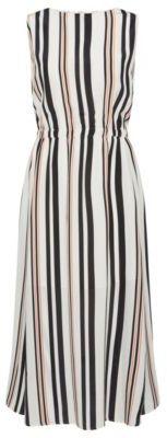 Hugo Boss Hemsy Silk A-Line Striped Dress 2 Patterned $695 thestylecure.com