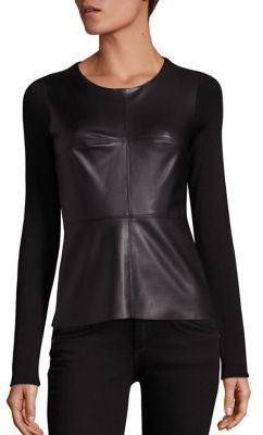 Bailey 44 Hardy Faux Leather Top $175 thestylecure.com