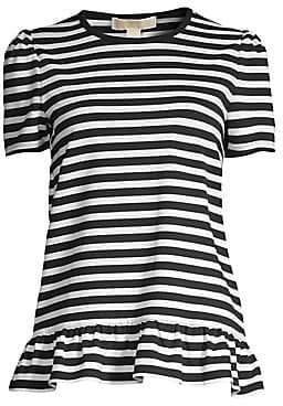 MICHAEL Michael Kors Women's Striped Peplum T-Shirt