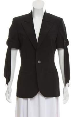 Jean Paul Gaultier Notch-Lapel Short Sleeve Blazer