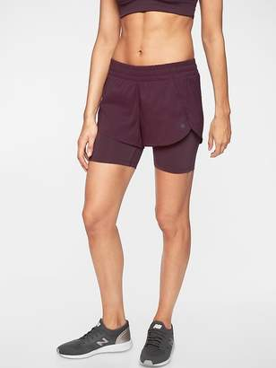 Athleta Racer Run 2 in 1 Short