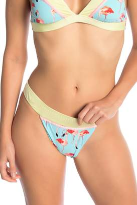 Bikini Lab The Flamingle Band Waist Bikini Bottoms