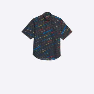 Balenciaga Allover logo printed short sleeve shirt