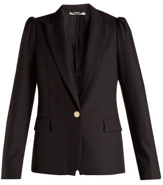 Stella Mccartney - Salma Peak Lapel Wool Blazer - Womens - Black
