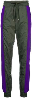 No.21 two-tone tracksuit trousers