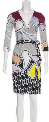 Diane von Furstenberg New Julian Two Silk Wrap Dress