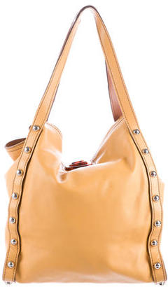 Lanvin Leather Studded Tote $475 thestylecure.com