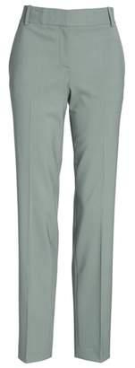 Theory Straight Leg Stretch Wool Trousers