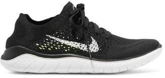Nike Free Rn Flyknit Sneakers - Black