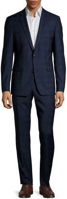 Strellson 2-Piece Plaid Wool-Blend Suit