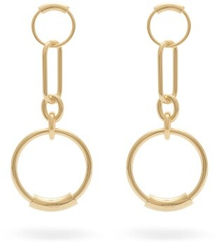 Chloé Chain Link Hoop Earrings - Womens - Gold