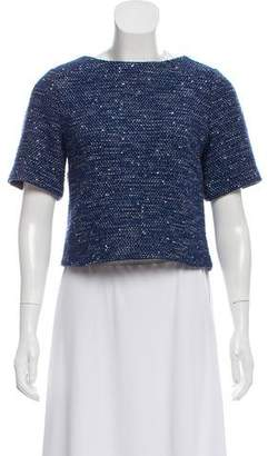 Alice + Olivia Patterned Short Sleeve Top